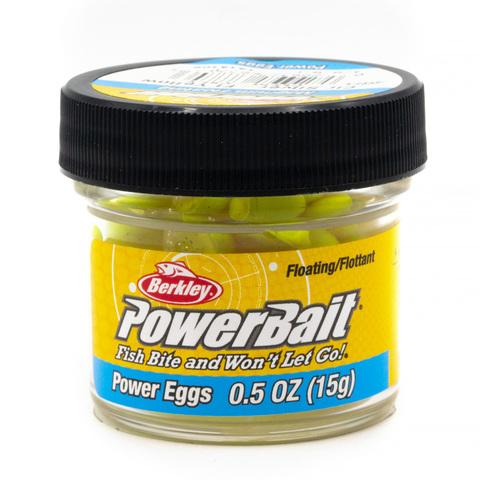 Приманка силиконовая Berkley Powerbait Floating Eggs Fluo Yellow (1313109) Имитация икры плавающая