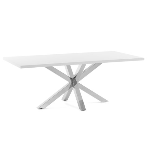 Лакированный стол Arya белый