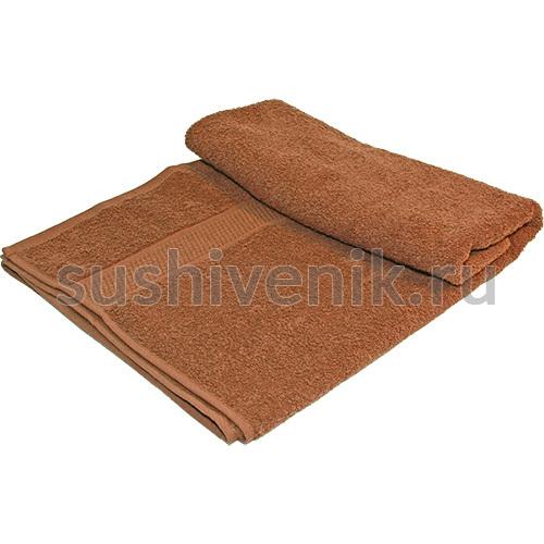 Полотенце махровое коричневое, 140х70