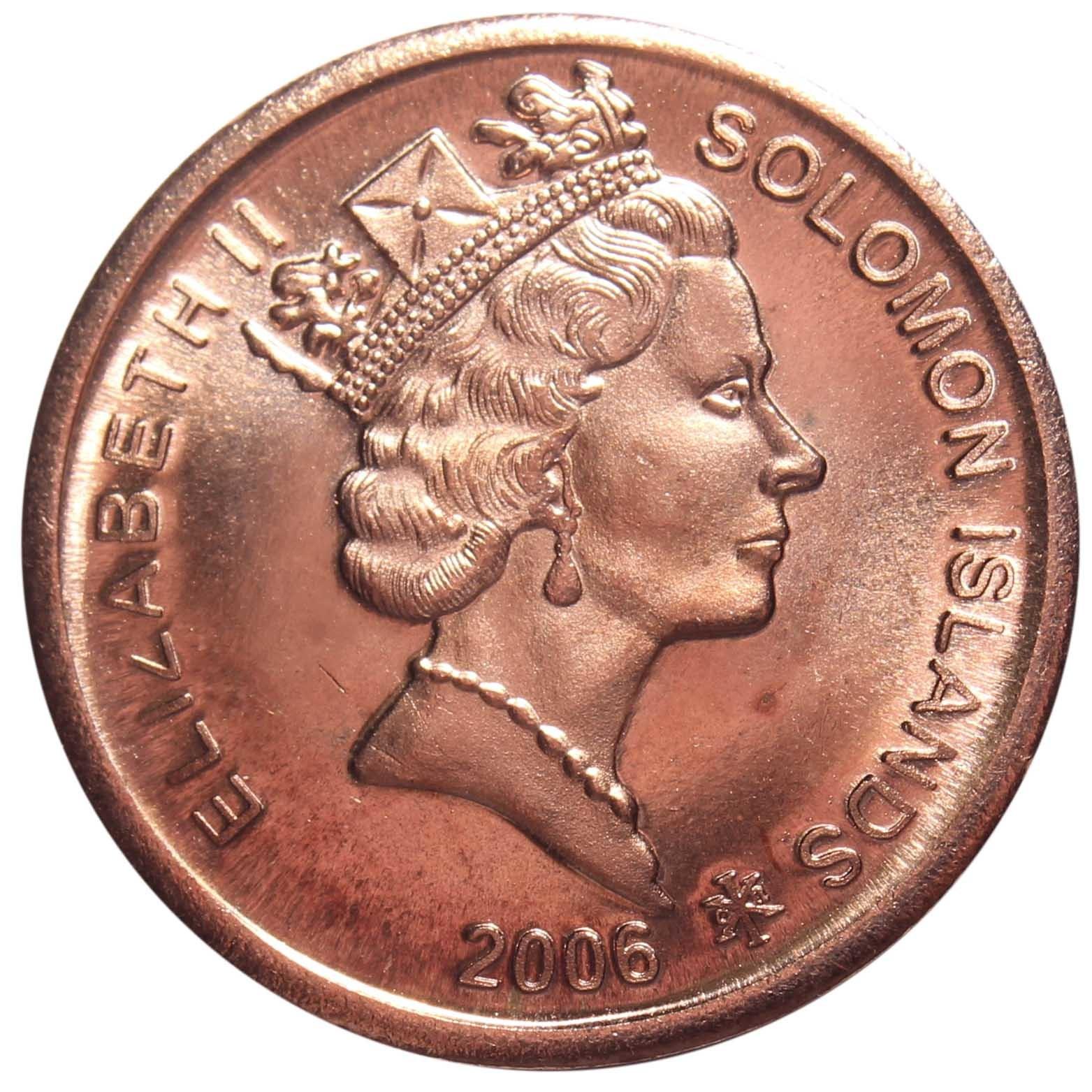 2 цента. Соломоновы острова. 2006 год. XF-AU