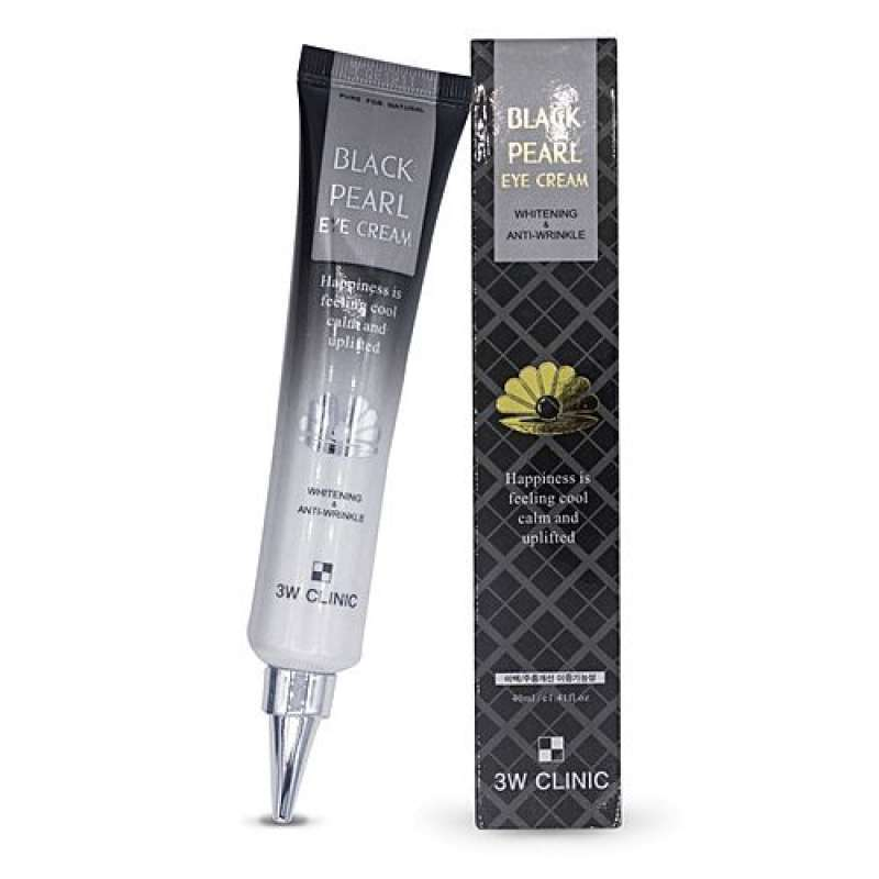 Крем с черным жемчугом 3W Clinic Black pearl Eye Cream Whitening & Anti-Wrinkle, 40ml