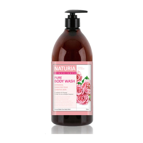 [NATURIA] Гель для душа РОЗА/РОЗМАРИН Pure Body Wash (Rose & Rosemary), 750 мл