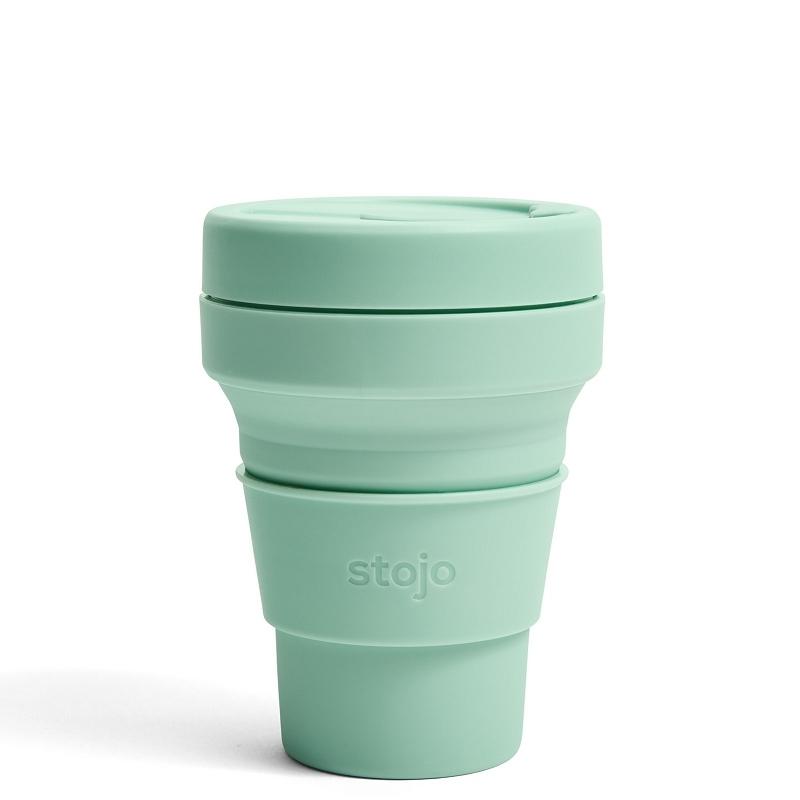 Стакан складной силиконовый Stojo Pocket Cup Seafoam, 12 oz / 355 мл