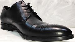 Мужские свадебные туфли под костюм Ikoc 2249-1 Black Leather.