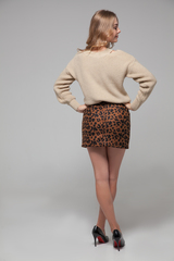 Юбка короткая леопардовая надяшоп
