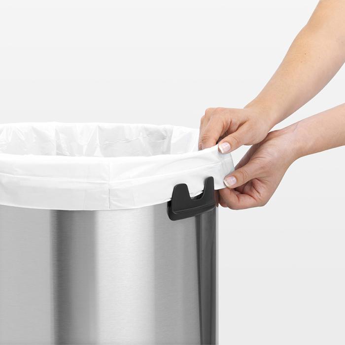 Мусорный бак Touch Bin (60 л), Стальной матовый (FPP), арт. 484506 - фото 1