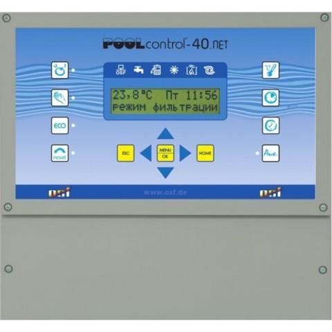 Панель управления фильтрацией и нагревом OSF Pool-Control-PC-40, 220В/380В, 3кВт