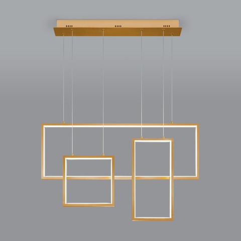 Подвесной светодиодный светильник с пультом управления 90178/3 золото