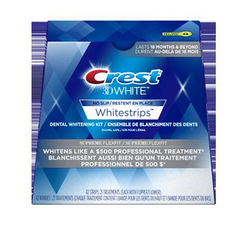 Отбеливающие полоски Crest 3D White Supreme FlexFit Whitestrips 42шт