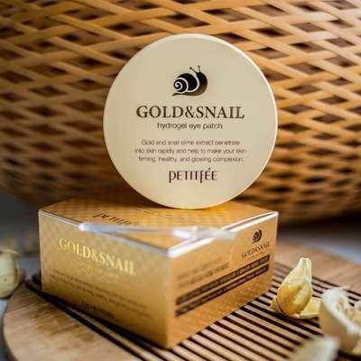 Патчи для глаз с золотом и муцином улитки Petitfee Gold & Snail Hydrogel Eye Patch