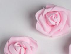 Роза из фоамирана крупная 6-7 см, 1 шт.