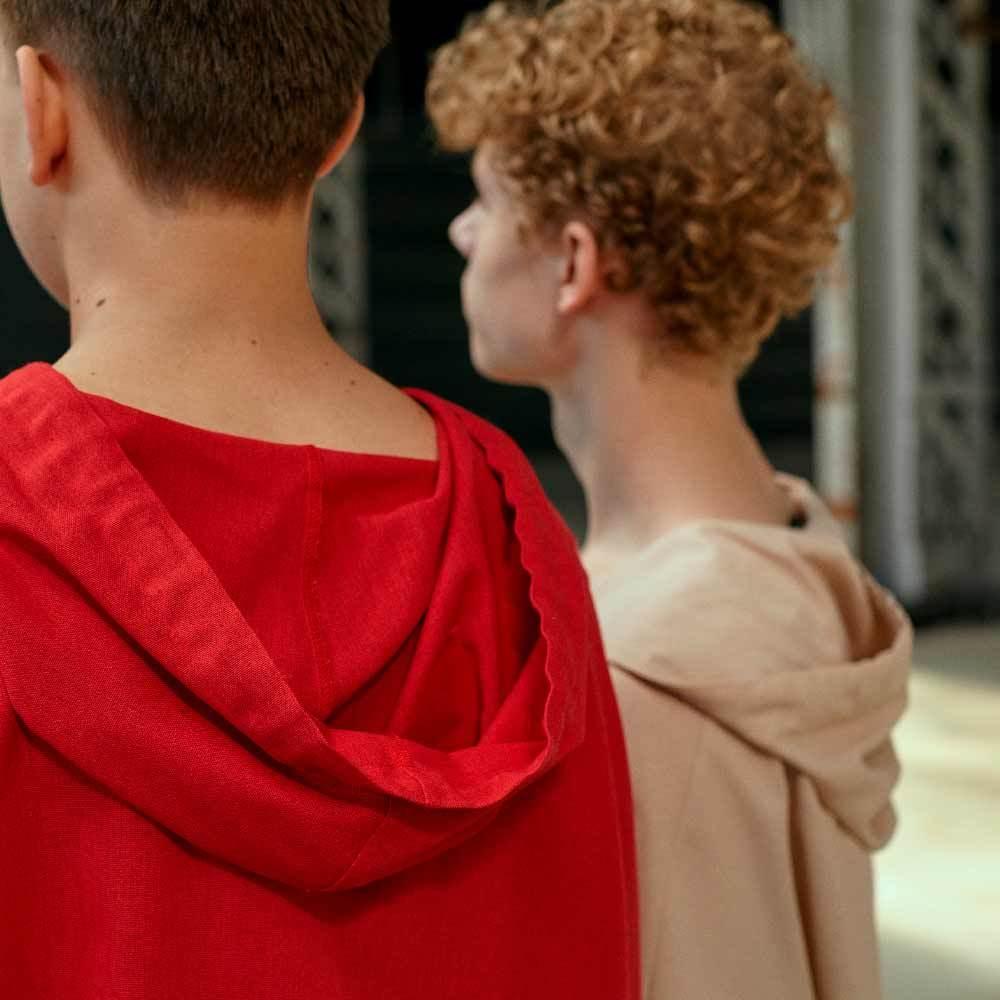 Підлітковий костюм з льону для хлопчиків в бежевому кольорі