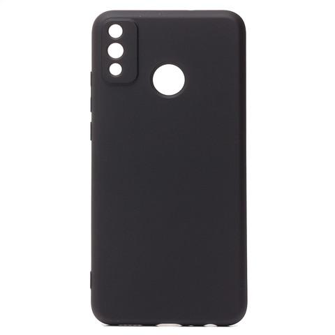 Чехол для Huawei Honor 9X Lite Софт тач мягкий эффект | микрофибра черный