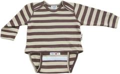 Боди/футболка с длинным рукавом ManyMonths, Коричневые/Бежевые полосы