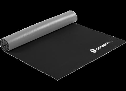 Коврик для йоги 6 мм серо-черный