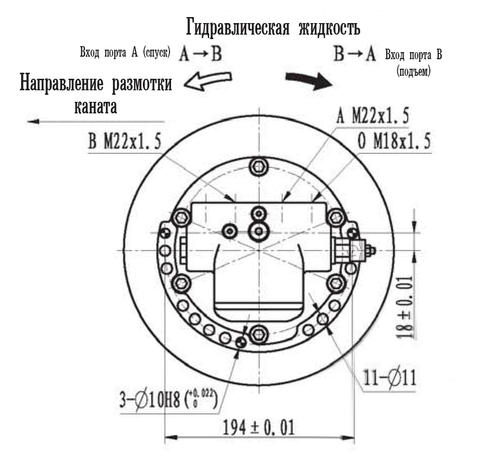 Эвакуационная лебедка IYJ22-25-38-12-ZPNC