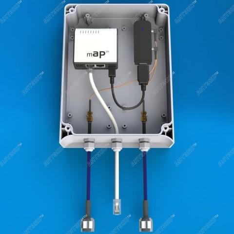 AX-BOX2 - универсальный герметичный бокс для активного оборудования
