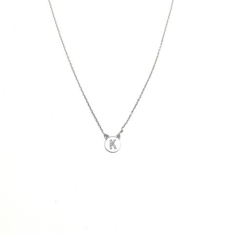 76505- Колье из серебра с подвеской буквой