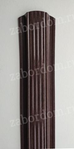 Евроштакетник металлический 115 мм Мореный дуб П - образный 0.5 мм