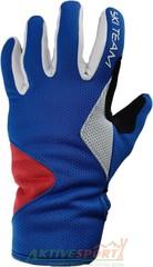 Перчатки лыжные утепленные Ski Team K19002WBR бело-сине-красный