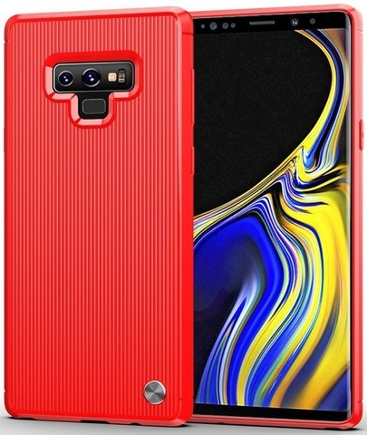 Чехол для Samsung Galaxy Note 9 цвет Red (красный), серия Bevel от Caseport