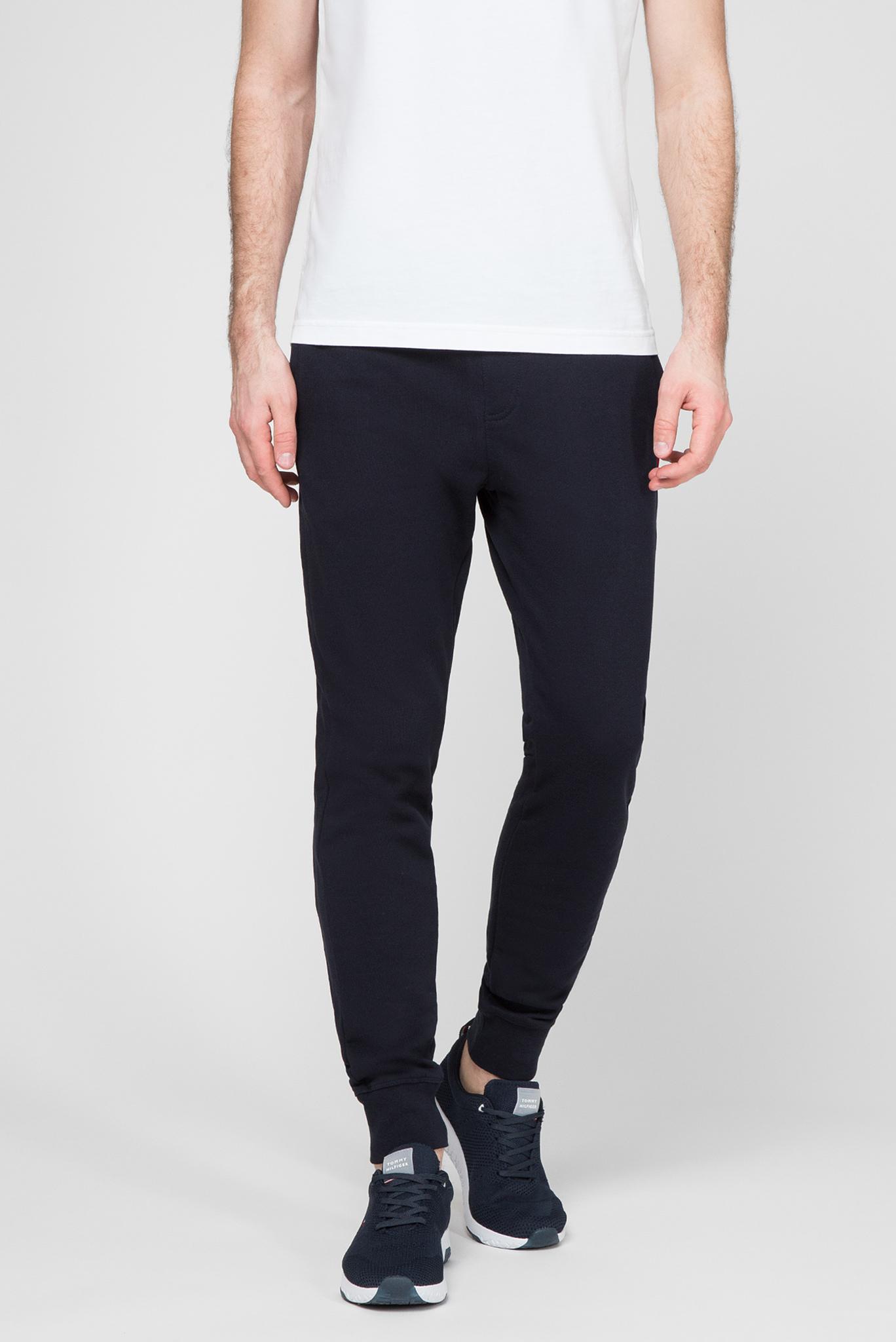 Мужские темно-синие спортивные брюки FLOCKED Tommy Hilfiger