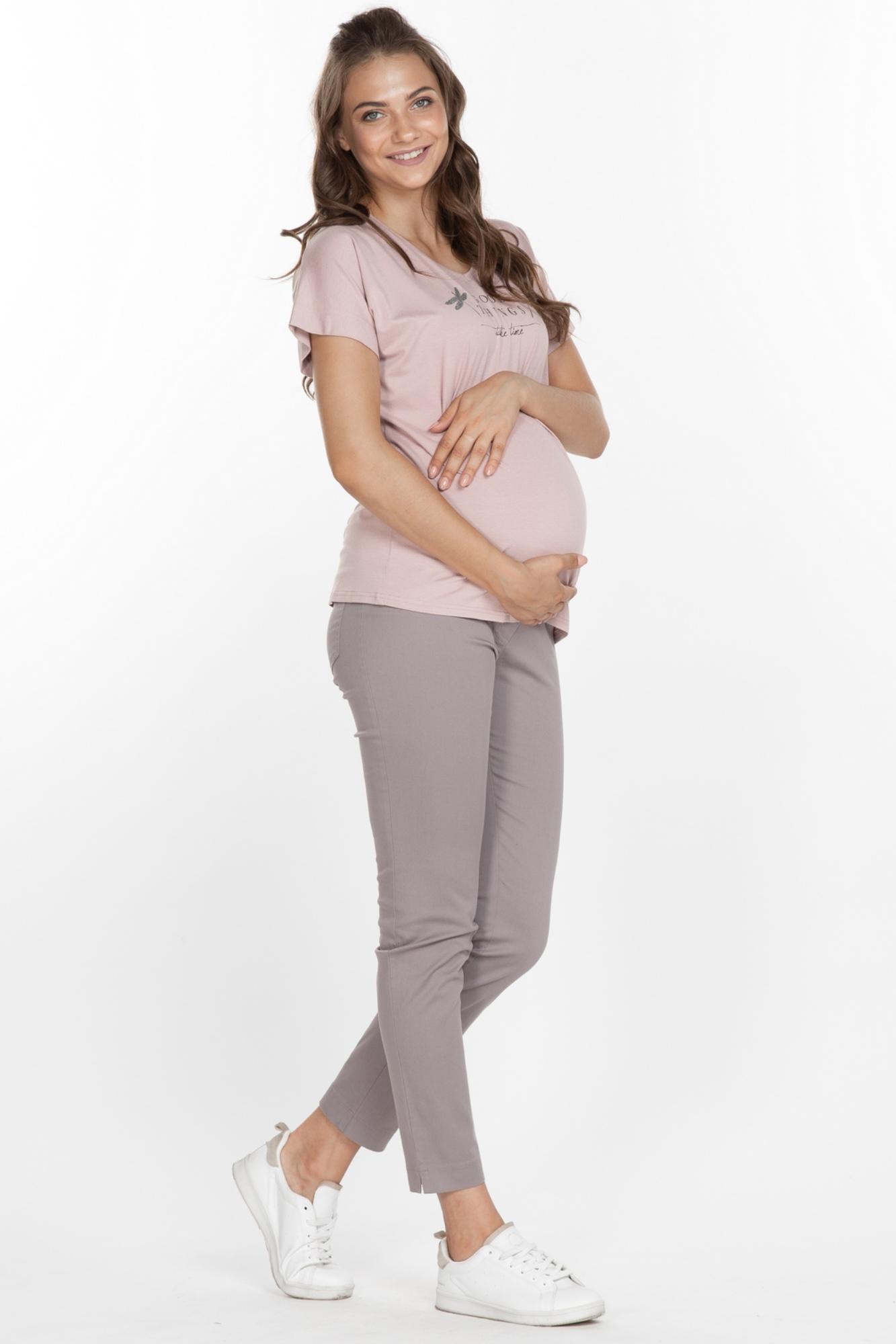 Брюки для беременных 03142 темно-серый