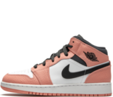 Кроссовки Nike Air Jordan 1 Retro Low Pink Quartz