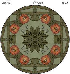 Эскиз для росписи, Круг диаметр-47,5см, SMAR-st-15
