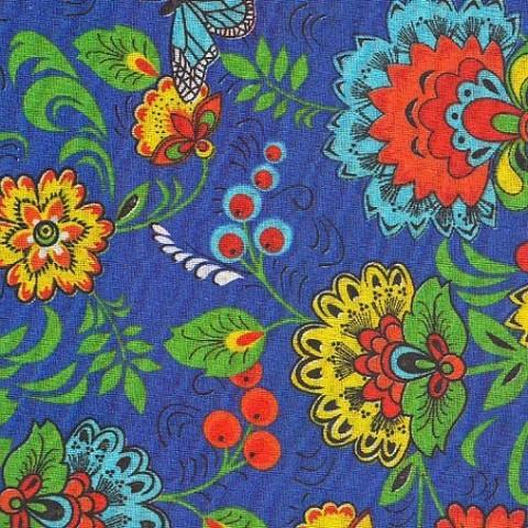 Бязь плательная 150 см 1591/1 цвет синий