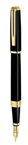 Перьевая ручка Waterman Exception, цвет: Slim Black GT, перо: F