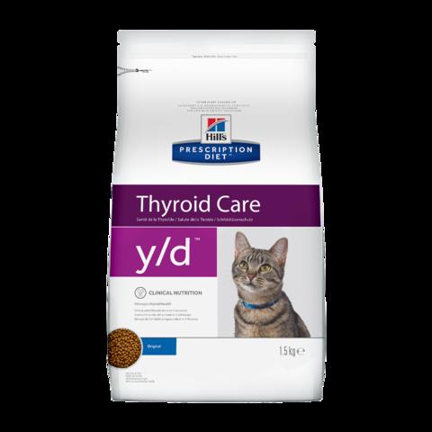 Hill's Prescription Diet Y/D Сухой диетический корм для кошек при гипертиреозе