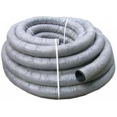Труба дренажная гофрированная d=63мм с фильтром с перфорацией (1 п.м.)
