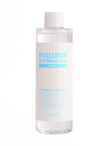 Secret Key Гиалуроновый тонер с эффектом микро-пилинга Hyaluron Soft Micro-Peel Toner 500 мл