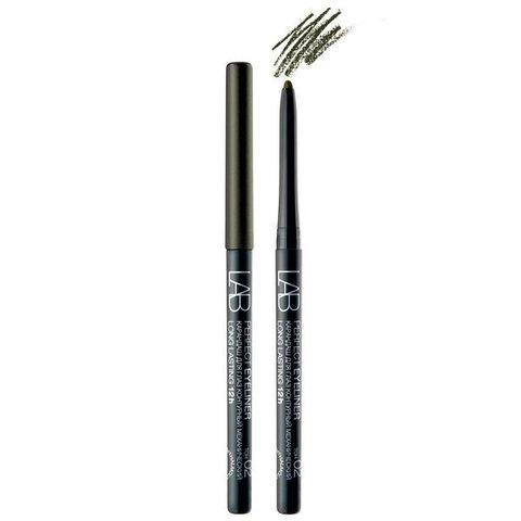 Карандаш для глаз LAB colour Perfect Eyeliner Long Lasting 12h контурный механический тон 02 темно-коричневый с легким шиммером , ( Белита )