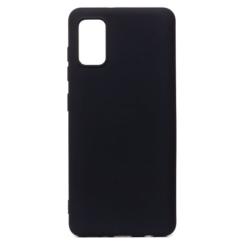 Чехол для Samsung (A415) Galaxy A41 Софт тач мягкий эффект   микрофибра черный