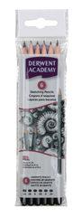 Набор чернографитных карандашей ACADEMY SKETCHING 6шт 3B-2H, блистер