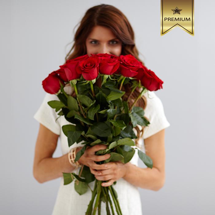 Красные эквадорские розы Фридом купить в Перми
