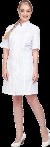 Халат медицинский белый ткань Оптима