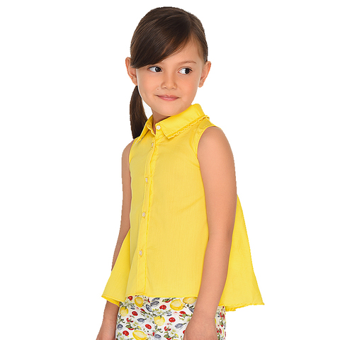 Блузка Mayoral желтая без рукавов