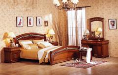 "Спальня ""Нотти"" (кров.160х200 - 2-е тумбы - туал. стол с зерк. - банкетка) —  Темный орех (MK-нотти7)"
