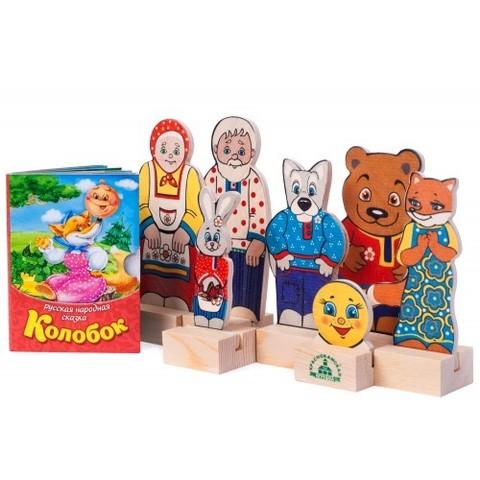 Кукольный театр Персонажи сказки Колобок, Краснокамская игрушка