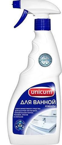 Средство чистящее д/ванной комнаты UNICUM 500мл спрей
