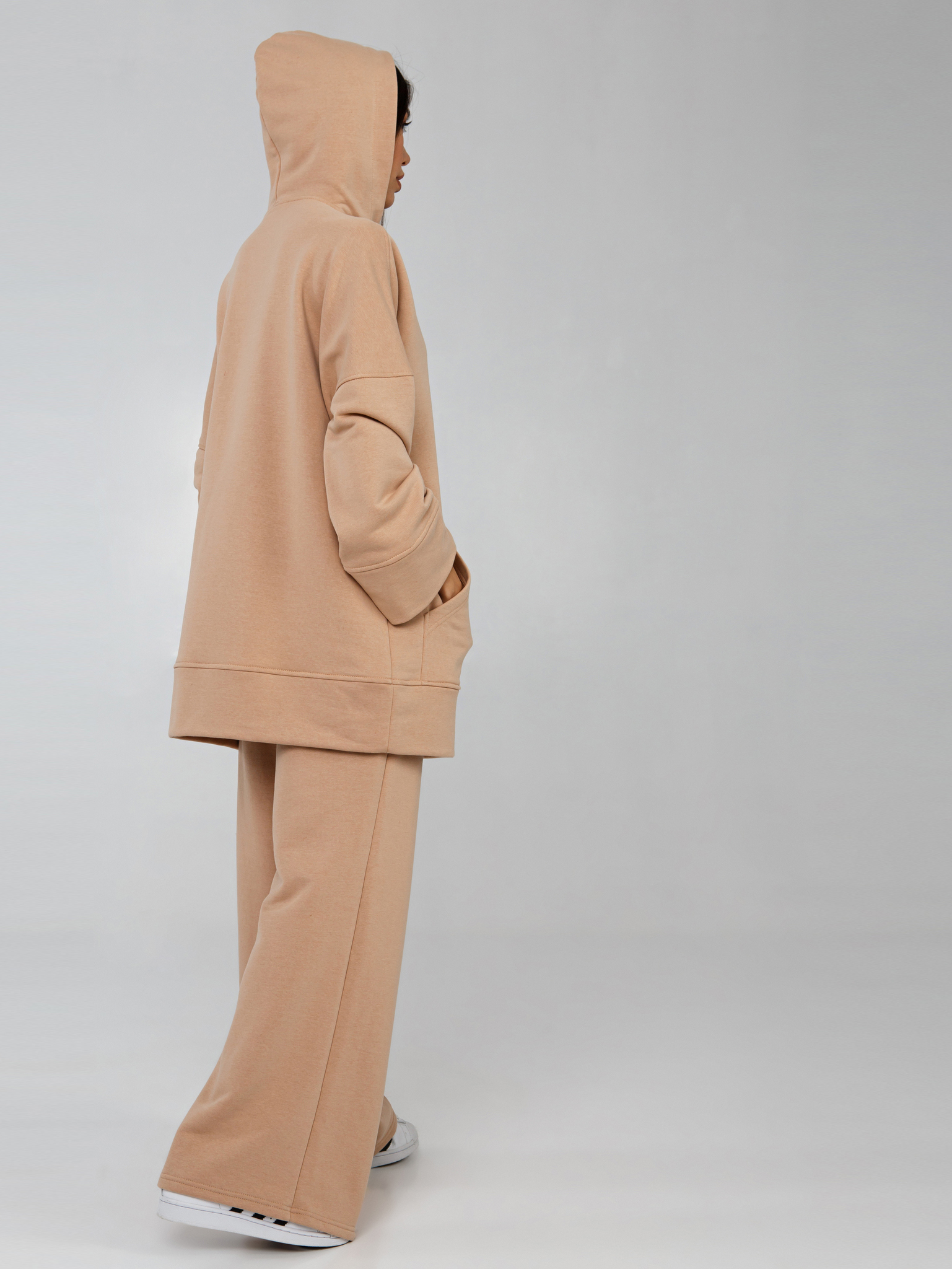 Костюм трикотажный бежевый YOS от украинского бренда Your Own Style