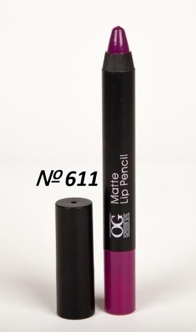 OG-FP3011B Помада-карандаш тон 611 насыщенный фиолетовый МАТОВАЯ Matte Lip Pencil PRO