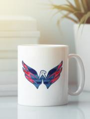 Кружка с рисунком  НХЛ Вашингтон Кэпиталз (NHL Washington Capitals) белая 003