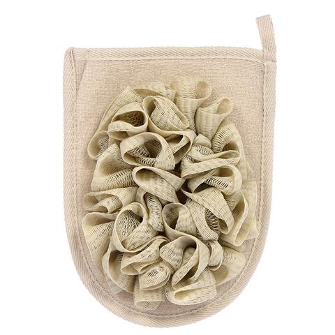 Мочалка «Королевский пилинг», рукавица с объёмными воланами,  15х20 см