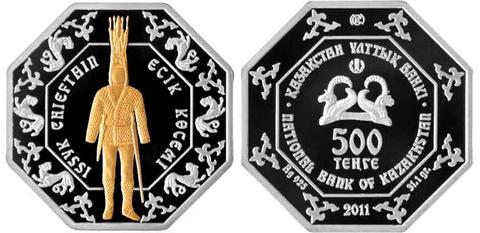 500 тенге Иссыкский вождь (Достояние Республики) 2011 год, Казахстан