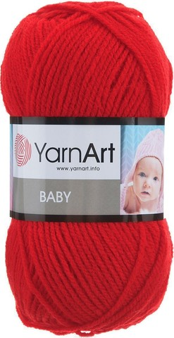 Пряжа YARNART BABY №156 красный