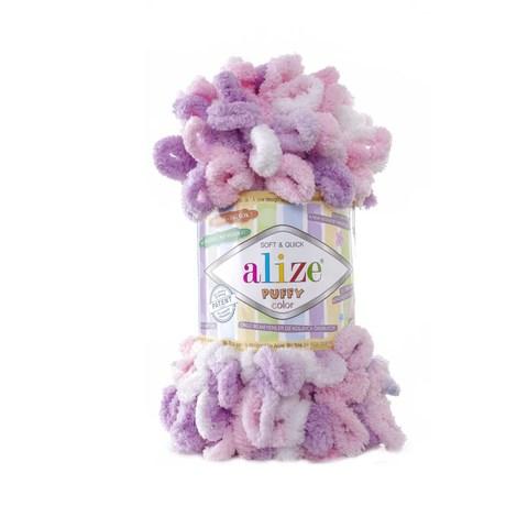Купить Пряжа Alize Puffy Color | Интернет-магазин пряжи «Пряха»